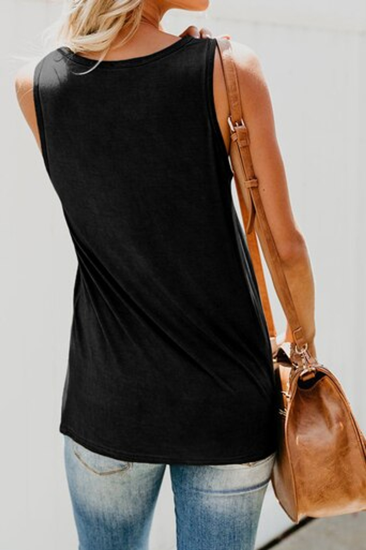 Summer Tank Top with Multicolor Pocket FRE253336-2