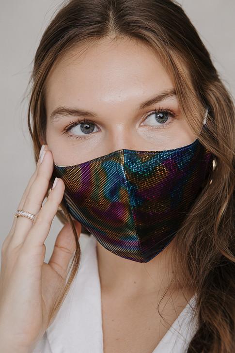 Black Shimmer Mask