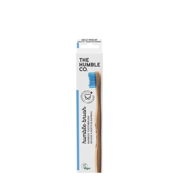 Humble Brush Adult -blue medium bristles