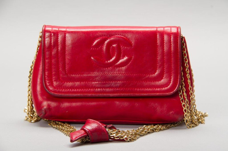 Chanel Red Clutche