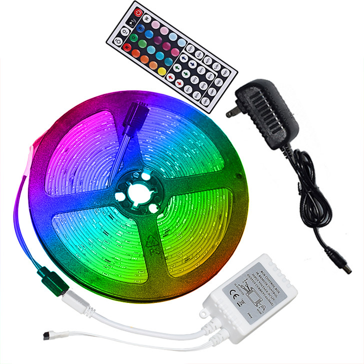 Led Stick On Strip Lights with Remote Control - 5 Meters / 16 Feet