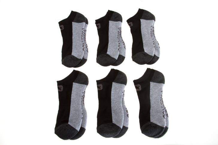 Mens Converse Solid No Show Socks - 6 pack