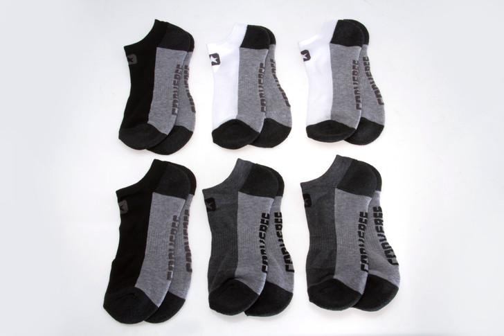 Mens Converse Multicolor No Show Socks - 6 Pack