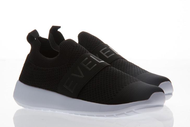 Ladies Mesh Slip On Sneaker - Black