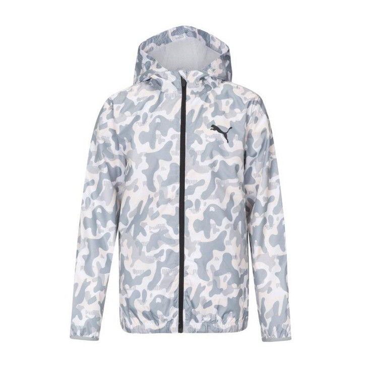 Puma Boys Youth Camo Woven Zip Up Windbreaker