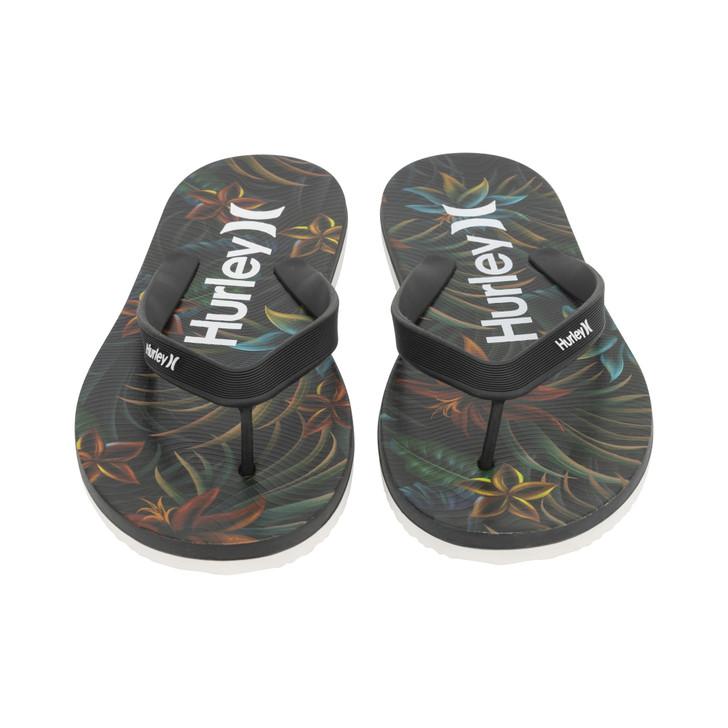 Hurley Mens Windswell Tier 2 Flip Flop - Black Combo