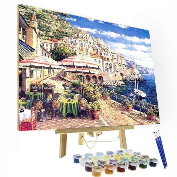 Coffee In Italy Paint By Number Painting Set - 40x 50 cm