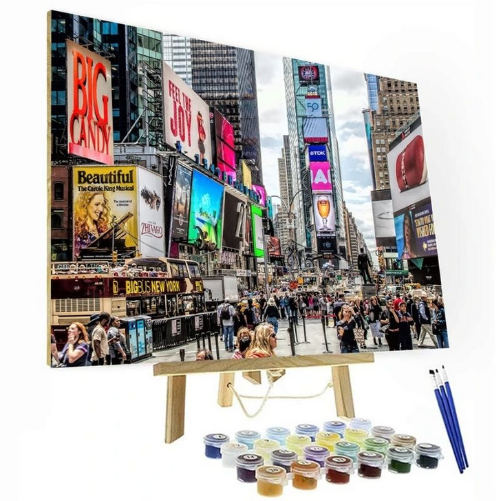 Times Square Paint By Number Painting Set - 40x50 cm