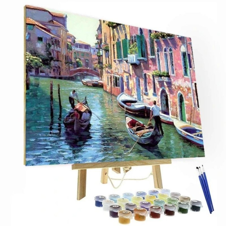 Venice Day Paint By Number Painting Set - 40x50 cm