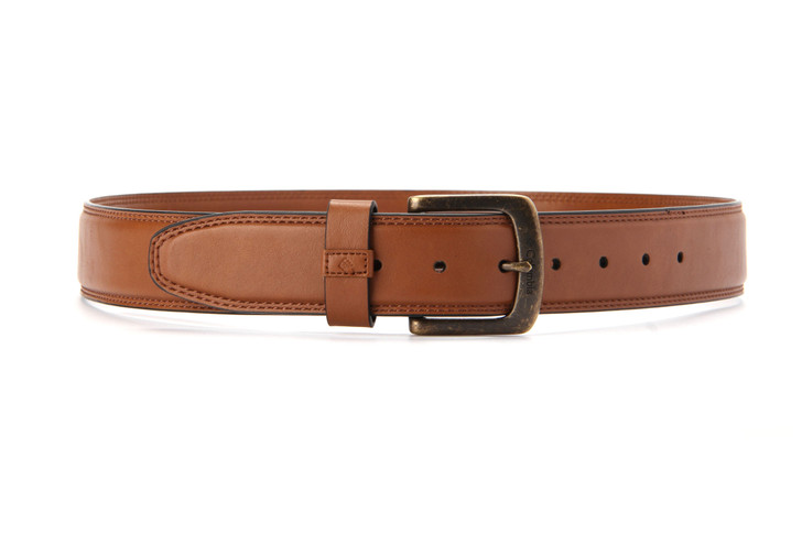 Columbia Outer Stitch Belt with Antique Brass
