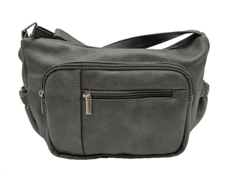 Top zip Crossbody with front pocket and functional zipper pouch