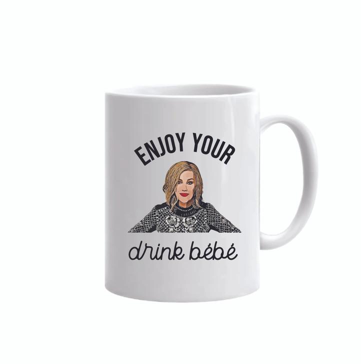 Enjoy Your Drink Bebe Moira Rose 11 oz Mug