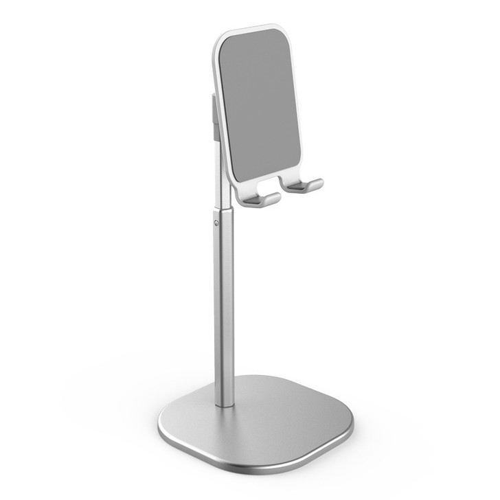 Adjustable High Cellphone & Tablet Stand - Silver