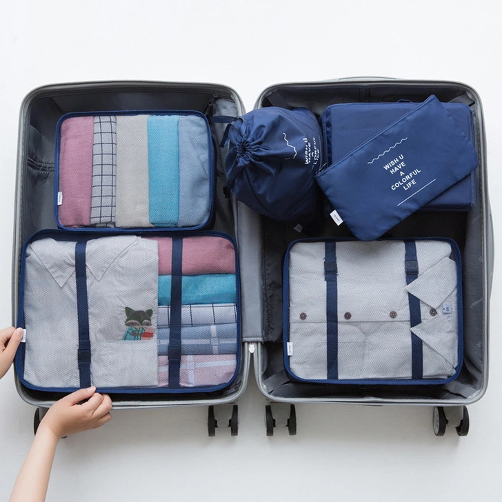 7 Piece Packing Cubes - Navy