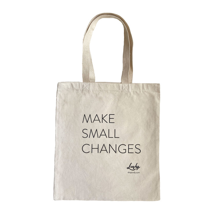 Make Small Changes Cotton Tote
