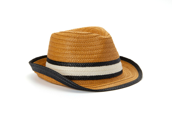 Fedora Hat with Black and White Band