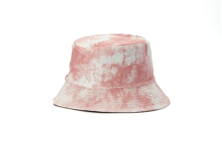 Cotton Bucket Hat - reversible pink tie dye