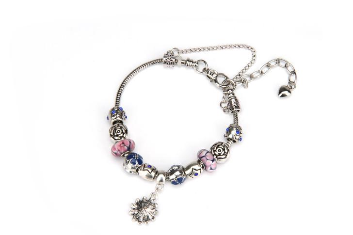 Khloelle Charm Bracelet - Light Pink