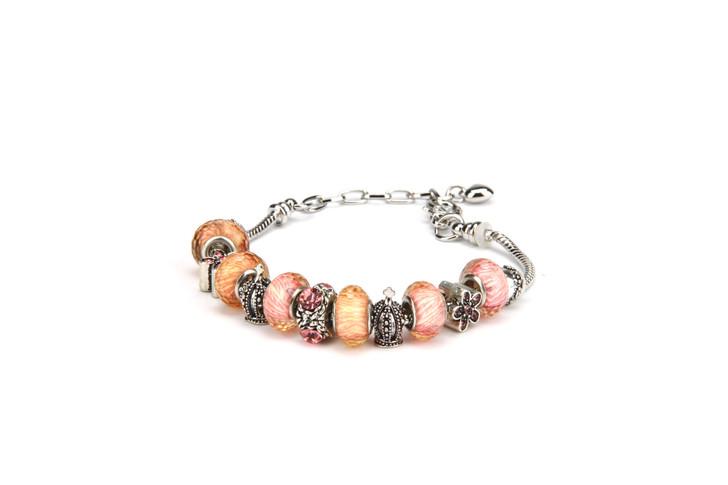 Khloelle Charm Bracelet - Orange