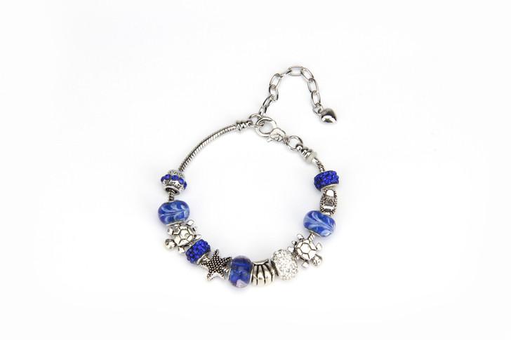 Khloelle Charm Bracelet - Royal Blue