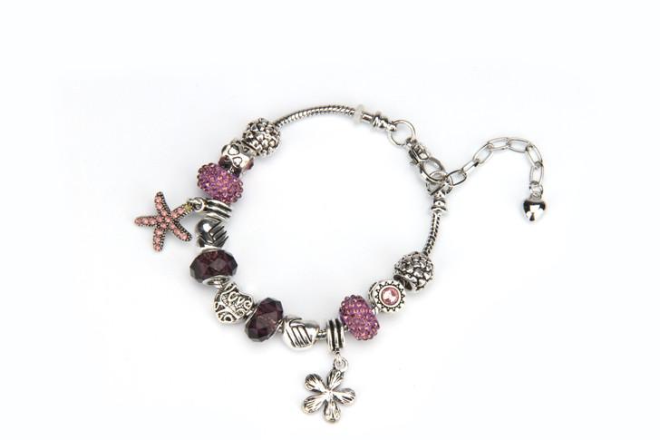 Khloelle Charm Bracelet - Purple