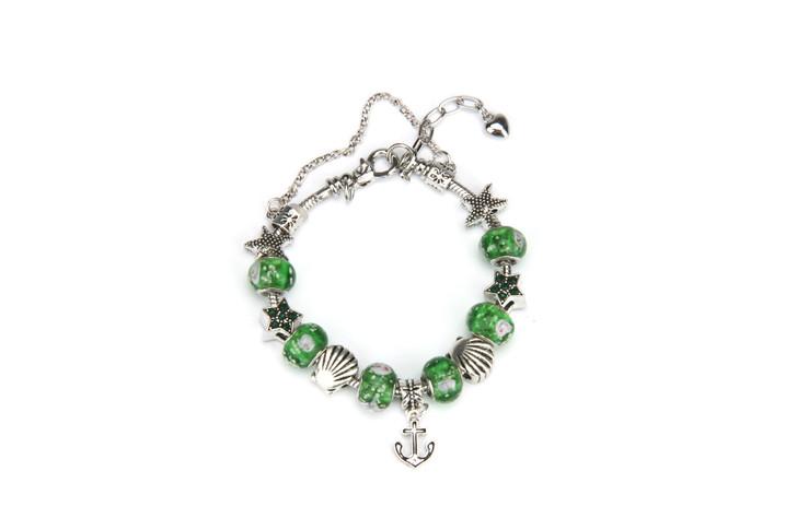 Khloelle Charm Bracelet - Green