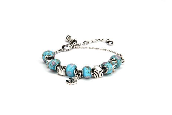 Khloelle Charm Bracelet - Light Blue