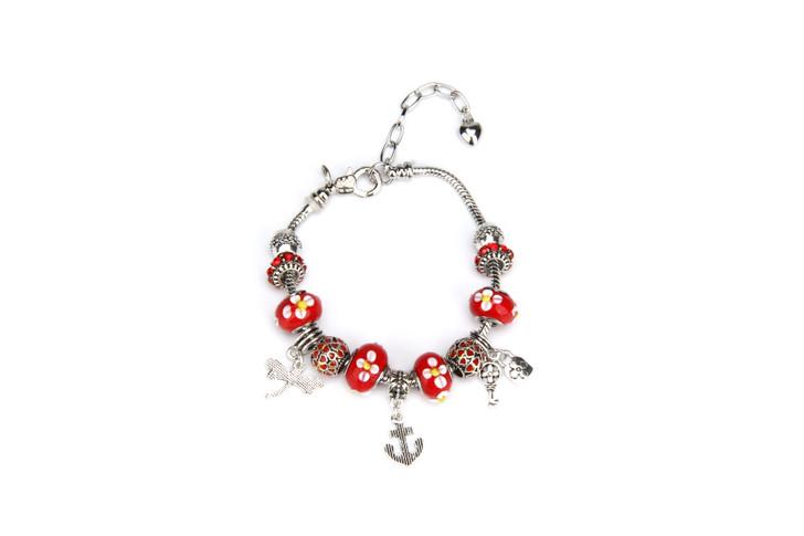 Khloelle Charm Bracelet - Red
