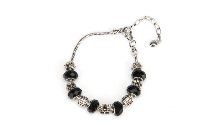 Khloelle Charm Bracelet - Black