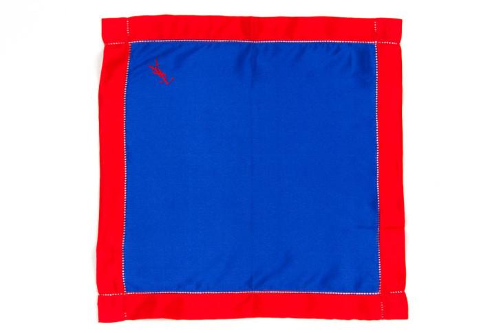 Yves Saint Laurent Silk Never Worn Vintage Classic Color block Handkerchief