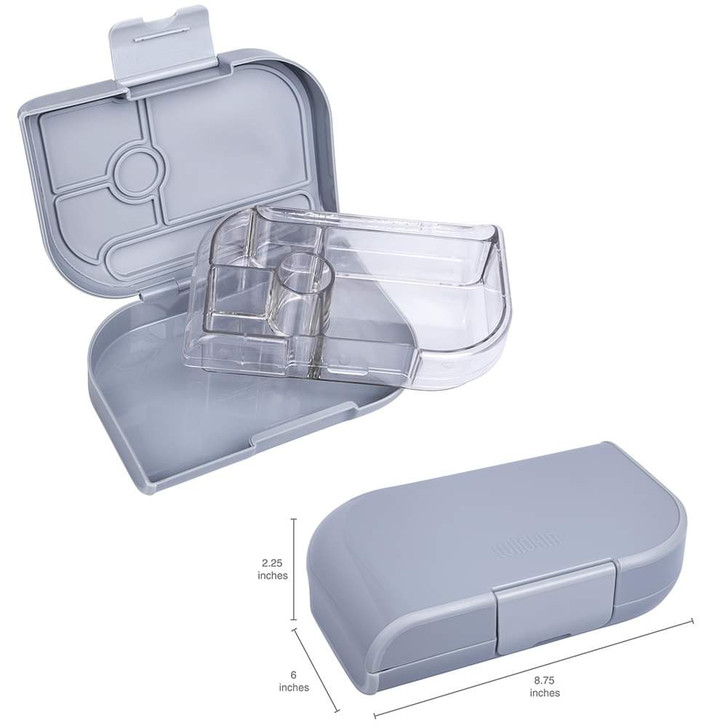 Kid's Bento Box Container - Grey