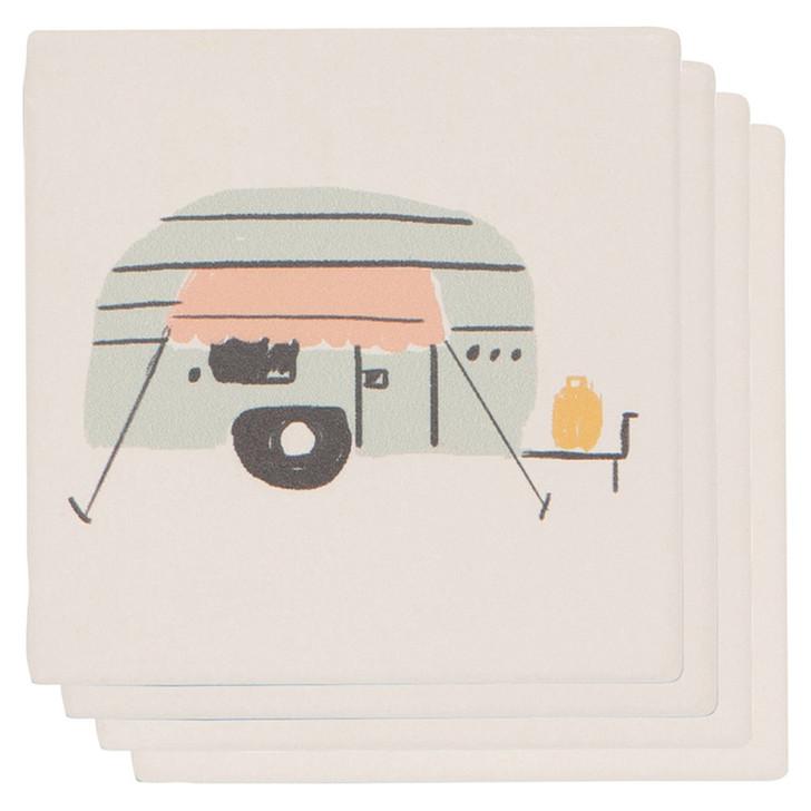 Happy Camper Coaster Soak Up