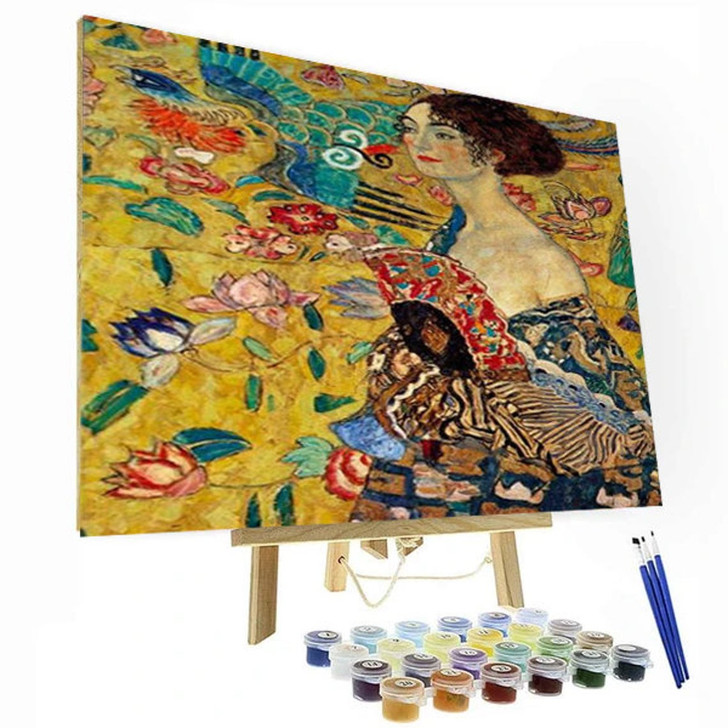 Lady with a Fan Paint By Number Painting Set - 40x50 cm