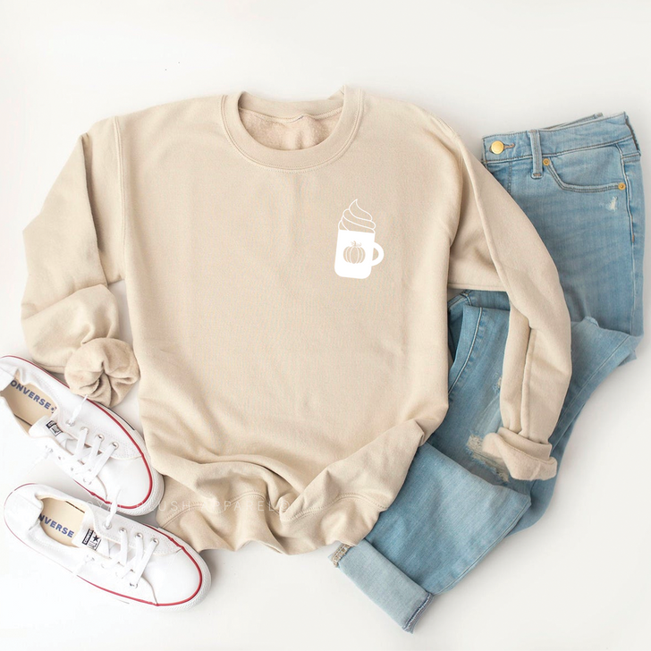 Coffee Cup Sweatshirt Top