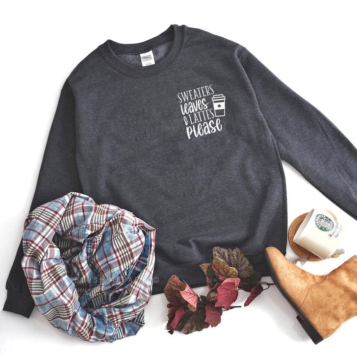 Sweaters Leaves & Lattes Please Sweatshirt Top