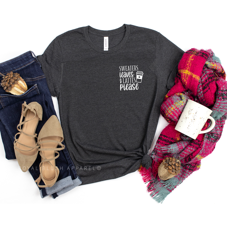 Sweaters Leaves & Lattes Please T-Shirt Top