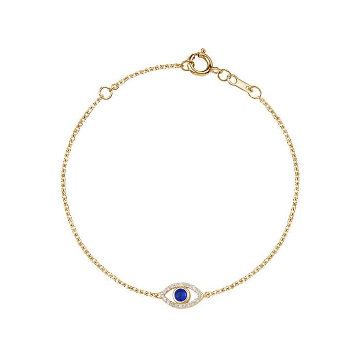 Lim Lim - Sterling Silver Single Eye Bracelet - Navy