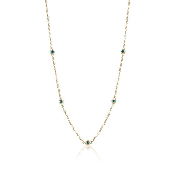 Lim Lim - Gold Plated Evil Eye All Around Necklace