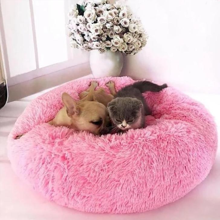 Cozy Pet Bed in Pink