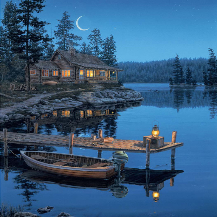 Crescent Moon Paint By Number Painting Set - 40x 50 cm