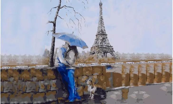 Paris Love Paint By Number Painting Set - 40x 50 cm