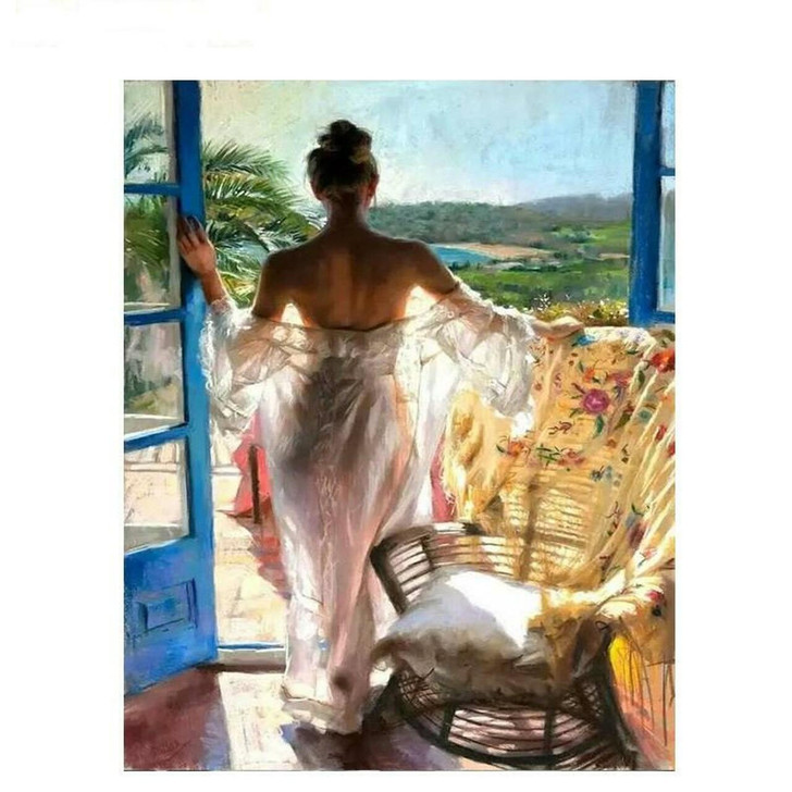 Romantic Morning Paint By Number Painting Set - 40x 50 cm