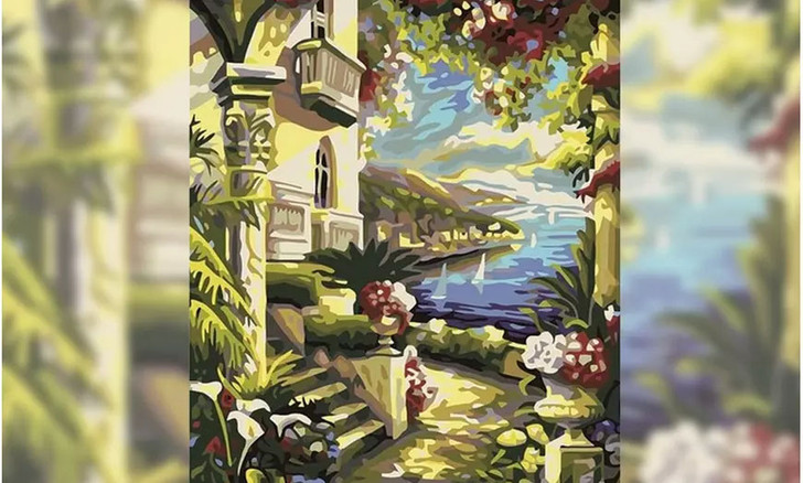 Garden View Paint By Number Painting Set - 40x 50 cm