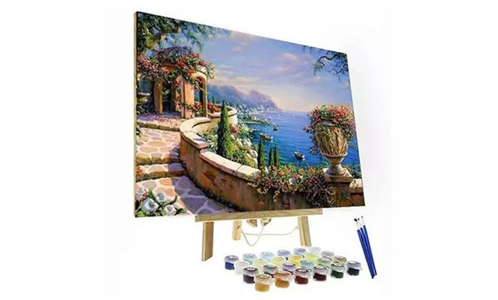 Milan Flower Paint By Number Painting Set - 40x 50 cm