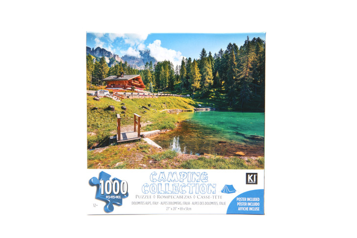 Camping Collection 1000 Piece Puzzle - Dolomits Alps, Italy
