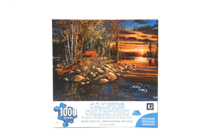 Camping Collection 1000 Piece Puzzle - Jim Hansel, Wake Up Call
