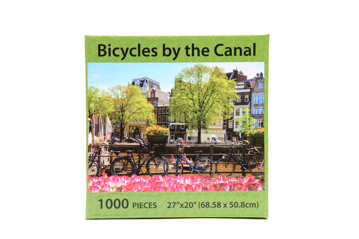 Bicycles By The Canal 1000 Piece Puzzle