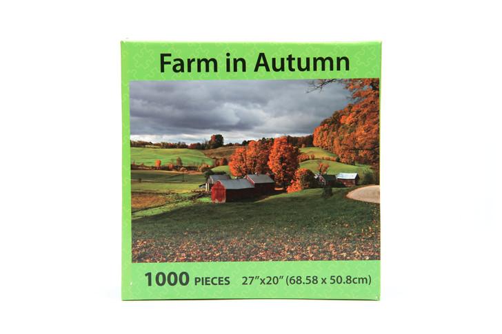 Farm In Autumn 1000 Piece Puzzle