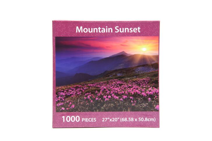 Mountain Sunset 1000 Piece Puzzle