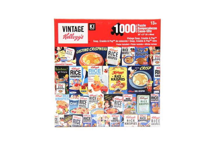 Vintage Kellogg's 1000 Piece Puzzle - Vintage Snap Crackle & Pop